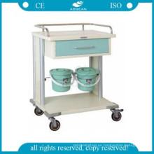 AG-MT029 CE ISO más pequeños cajones metal marco clínica utilidad hospital ultrasonido carros