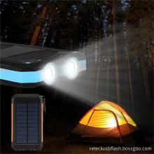 Portable Solar Charger Rohs Power Bank 8000mah