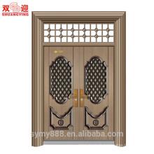 Portes moulées dessins indiens double porte principale en acier