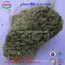 Manufacture high purity green silicon carbide for steelmaking