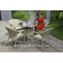 Venda a quente Outdoor All Weather mesa e cadeiras de acrílico transparente