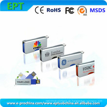 Kundengebundener Logo-Gedächtnis-Stock-Metallmini-USB-Blitz-Antrieb (ED007)