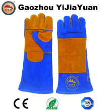Heat Resistant Cow Split Leather Safety Welding Gloves with Kevlar Stitching Manufacturer