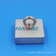 75X75X25mm Neodimio NdFeB aimants carrés fraisés