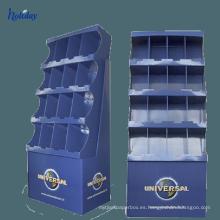 Paleta de papel cartón personalizado supermercado muestra estante, pop-up de cartón muestra cremallera fabricante