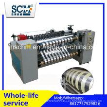 Jumbo rollo BOPP, PVC, mascota, cortadora de rollo de PE Rewinder Machine