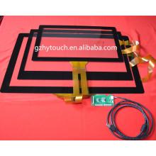 Panneau tactile capacitif acceptable OEM haute résolution de 2 pouces à 65 pouces