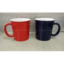 Taza de café de 14 onzas, taza de cerámica de 14 oz, taza de cerámica de dos tonos