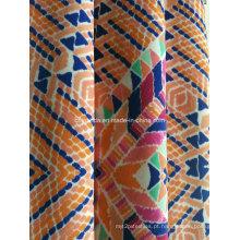 Tecido de impressão laranja triângulo para Sportswear (HD1401111)
