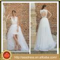 BIE-18 2015 Neue Ankunft Sweethaert Hochzeits-Brautkleid-reizvolles Schlüsselloch-Rückseiten-Entwurfs-niedriges Hochzeits-Kleid für Strand-Hochzeiten