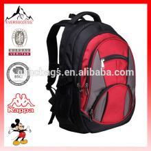 Mochilas de mochila de poliéster rojo durable con compartimiento del ordenador portátil