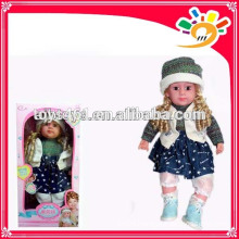 Cute function speaking baby girl doll intelligent doll dialogue doll