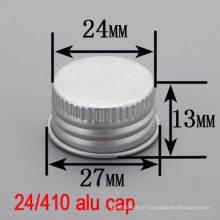24mm Aluminium Screw Bouteille Top Round Lid / Cover / Cap pour Cosmétique