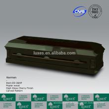 LUXES caixão americano com escultura chinesa