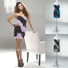 Spalte Mini schwarze Spitze kurze Reißverschluss Verschluss Schatz Graduierung Kleid Heimkehr Kleid