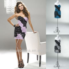 Coluna Mini Black Lace Short Zipper Closure Sweetheart Graduation Dress Homecoming Gown