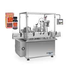 Shanghai ALWELL 50-200ml automatic syrup filling machine, medical syrup bottle filling machine