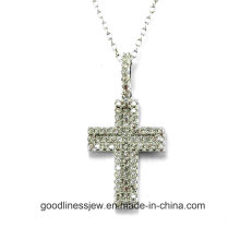 Good Quality and Simple Design 925 Sterling Silver Cross Pendant Jewelry (P50000)