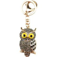 Yellow eyes owl keychain