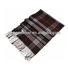 woven fashion checked long scarf