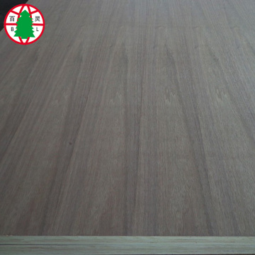 Natural black walnut veneer faced plywood