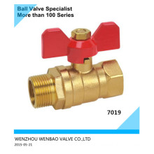 Brass Ball Valve M/F with Butterfly Handle Dn20