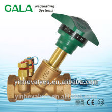 double orifice regulating balance valves