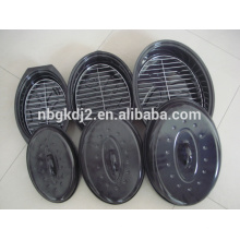 Emaille oval Putenröster Pfanne & Huhn Emaille Röster & Huhn Backform