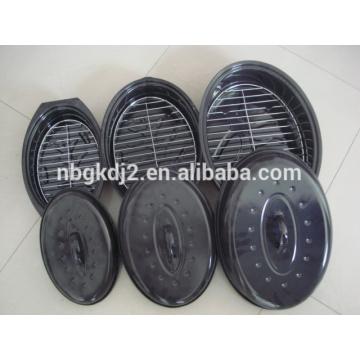 Huhn Emaille Röster & Emaille Oval Türkei Röstpfanne & Huhn Backform