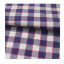 Tecido de camisa listrado 100% algodão tingido com fio para camisa masculina