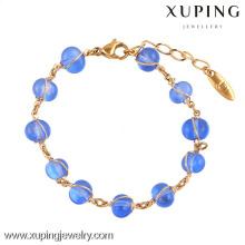 74295 Xuping 18k banhado a ouro pulseiras de cobre por atacado para as mulheres