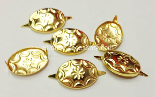 Oro Tono Metal Oval Nailheads 2 Prongs