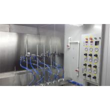 Linha de pintura de pulverizador automático