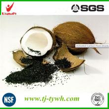 Carbón activado con cáscara de coco