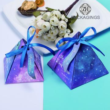 Handmade Geometric color paper candy box