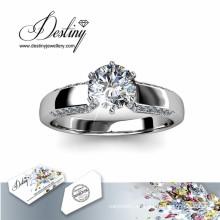 Destino joyería cristal Swarovski Royal brillante anillo de