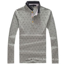 Comfortable Men's Long-sleeved Polo Shirt, Made of Cotton, Customized Designs are AcceptedNew