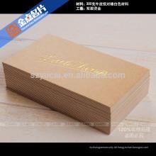 Lackieren Buchdruck Luxus Papier vertikale Visitenkarten Drucker