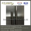 Glossy Carbon Cloth Pattern Oval / Round Paddle Shaft 3K Carbon Fiber Tube