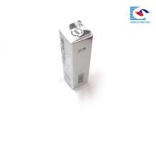 Роскошный дизайн маленькой дешевые горячая мода бумага губная помада губы блеском серебра коробки