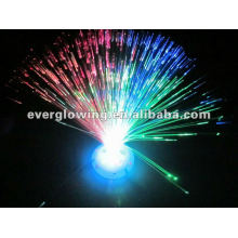 mudança de cor fibra óptica levou luz flor