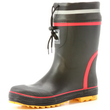 Men's Safety Steel Toe Cap Rubber Rain Boots With Reflective Strip