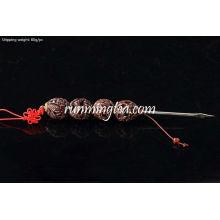 """Dragon Carving"" Walnut Punho Pu Er Prying Pick"
