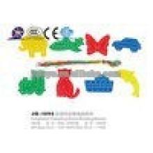 JQ1093 plástico animal Threading bloques de construcción de juguete de enlace para la venta