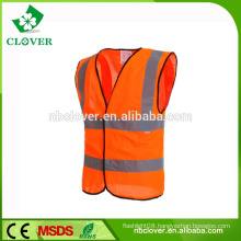 High visibility reflective clothing with CE EN20471 class 2 orange reflective safety vest