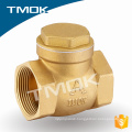 water pump brass body DN 15 check valve with thread material Hpb57-3 in OUJIA VALVE FACTORY