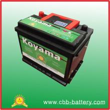 Batterie automatique de voiture de batterie de l'usine 55ah 12V de Guangzhou usine
