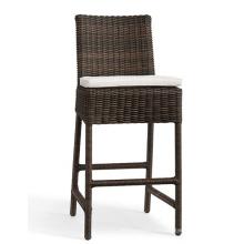 Silla de jardín de mimbre de la resina al aire libre barra muebles de la rota taburete