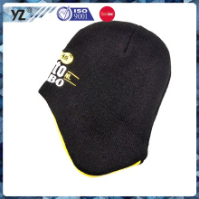 Special shape knitted hat with embroidery pattern