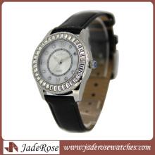 Relógio de senhora de aço inoxidável de qualidade boa forma